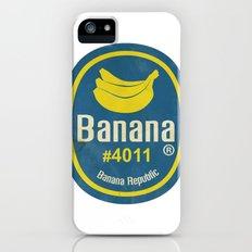Banana Sticker On White iPhone (5, 5s) Slim Case