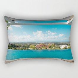 swimming pool in paradise Rectangular Pillow