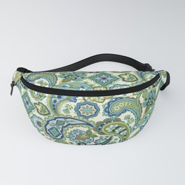 Blue and Green Paisley Fanny Pack