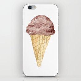Watercolour Illustrated Ice Cream - Chocolate Dream iPhone Skin