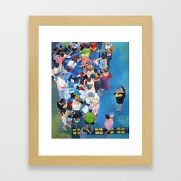 Sales. Framed Art Print