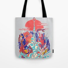 Smash! Zap!! Zooom!! - Generic Spacecraft Tote Bag