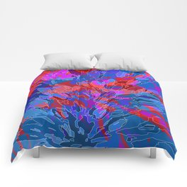 exploding coral Comforters