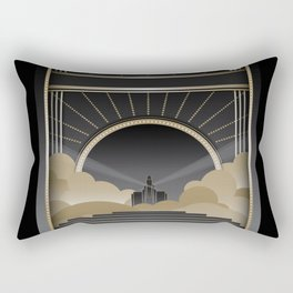 Art deco design V Rectangular Pillow