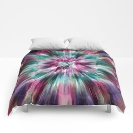 Colorful Watercolor Tie Dye Comforters