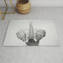 Elephant 2 - Black & White Rug