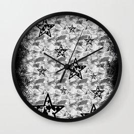 White Toxic Stars Wall Clock