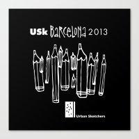 Urban Sketchers USk BCN 2013 Canvas Print