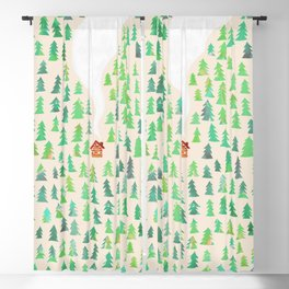 Alone in the woods Blackout Curtain