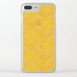 Japanese Seigaiha Wave – Marigold Palette Clear iPhone Case