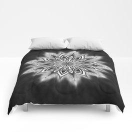 Black Ice Mandala Swirl Comforters