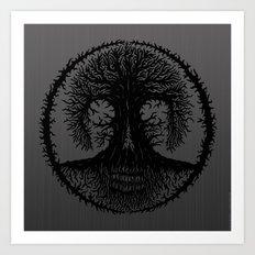 romkalah, black Art Print
