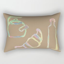 Rainbow Pastel Kitchen Rectangular Pillow