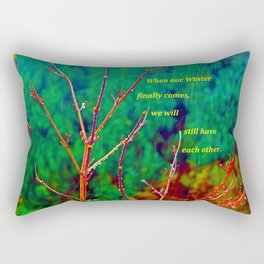 """""""The Yard #1"""" with poem Rectangular Pillow"""