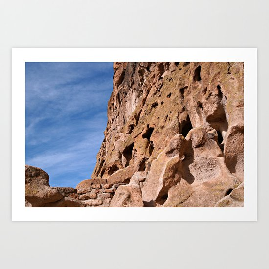 Rocky Cliffs at Bandelier National Monument Art Print