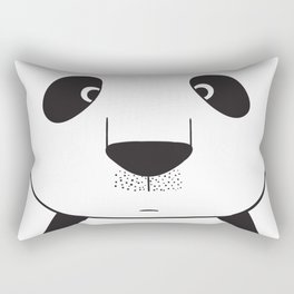 Cute Panda looks happy every season Rectangular Pillow