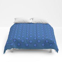 Eclosion bleutée Comforters