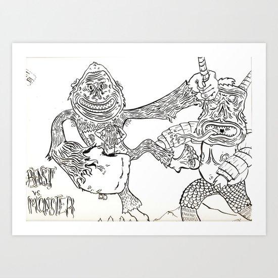 Beast Vs. Monster Art Print