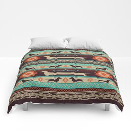 Boho dogs | Smooth Dachshund sunset Comforters