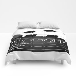 New Year 2017 Clapperboard Comforters