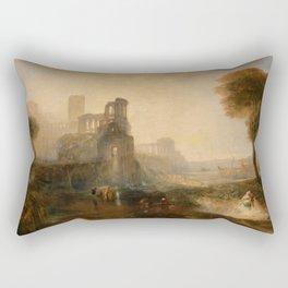 "J.M.W. Turner ""Caligula's Palace and Bridge"" Rectangular Pillow"
