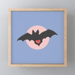 I love Bats - Pastel Framed Mini Art Print