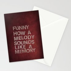 Funny How a Melody Sounds Like a Memory Stationery Cards