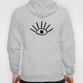 Black Evil Eye Pattern Hoody