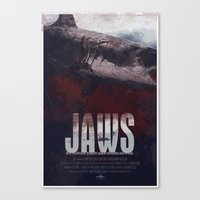 jaws Canvas Prints featuring Jaws by Duke Dastardly