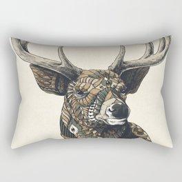White-Tailed Deer (Color Version) Rectangular Pillow