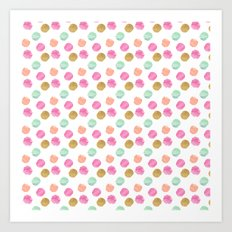 Girly Glam Watercolor Dots Art Print