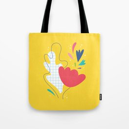 Abstract flower and leaves bouquet Tote Bag