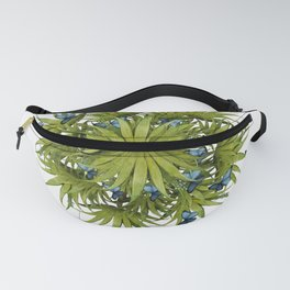 """El Bosco fantasy, tropical island blue butterflies 02"" Fanny Pack"