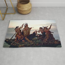 The Abduction of Boone's Daughter by the Indians Rug