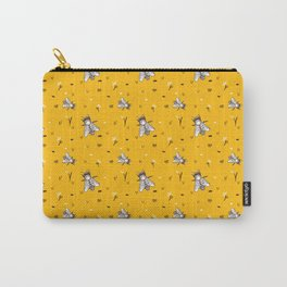 Save The Bees - Yellow Pattern Carry-All Pouch