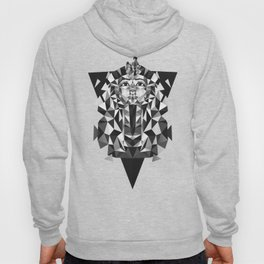 Black and White Tutankhamun - Pharaoh's Mask Hoody