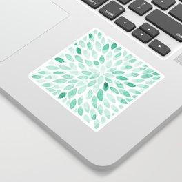 Watercolor brush strokes - aqua Sticker