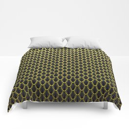 Golden Chain Link Pattern Comforters