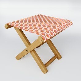 Mid Century Retro Dots Folding Stool