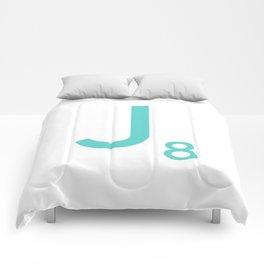 Scrabble Wall Art Blue Letter J Comforters