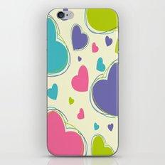 Cute Playful Hearts Pattern iPhone & iPod Skin