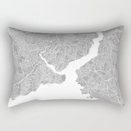 Istanbul map grey Rectangular Pillow