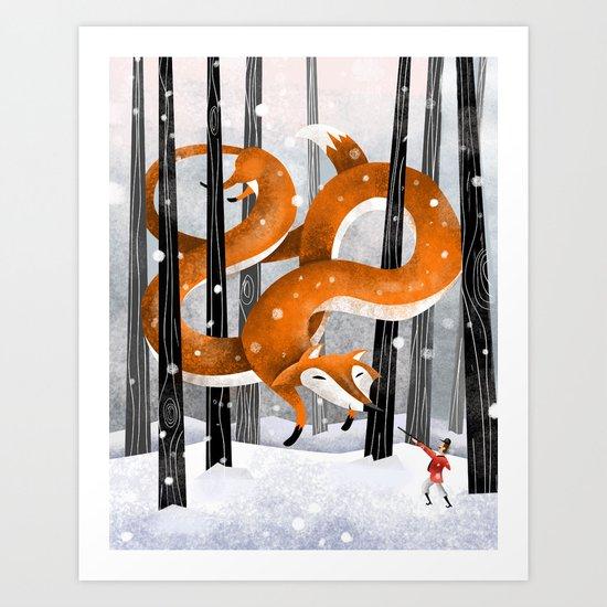Giant fox Art Print