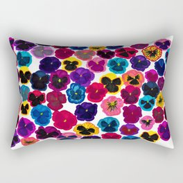 Plentiful pansies Rectangular Pillow