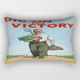 Vintage poster - Dig On For Victory Rectangular Pillow