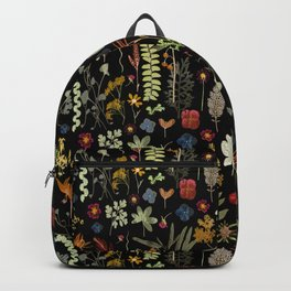 Dark Floral Sketchbook Backpack