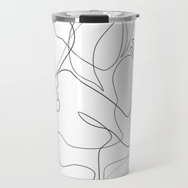 Lovers - Minimal Line Drawing Travel Mug