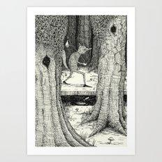 'Through The Forest' Art Print