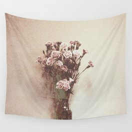 Abstract Vintage Flowers Wall Tapestry