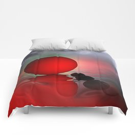 just red - square format Comforters
